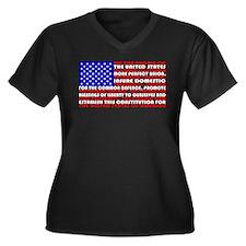 Patriot Women's Plus Size V-Neck Dark T-Shirt