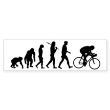 Cycling Evolution Bumper Sticker