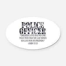 Unique Police Oval Car Magnet