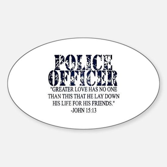 Cool Fallen officers Sticker (Oval)