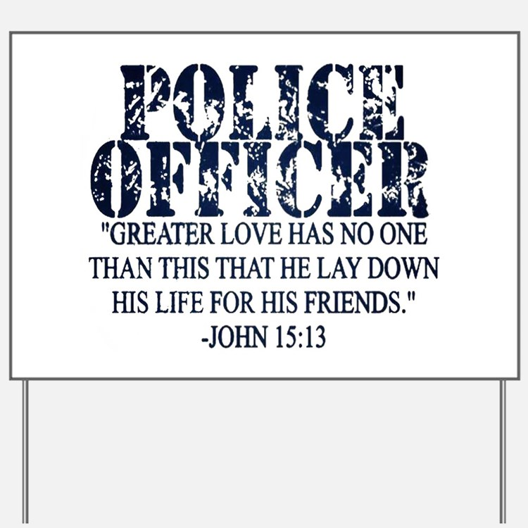 Cute Police officer prayers Yard Sign