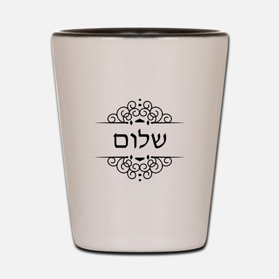 Shalom: Peace in Hebrew Shot Glass