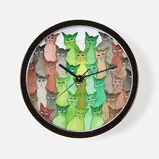 Cute Feline Wall Clock