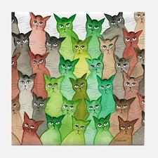 Cute Stray cat Tile Coaster