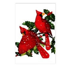 Snow Cardinals Postcards (Package of 8)