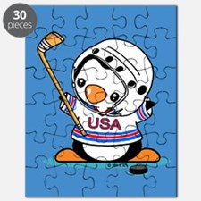 Ice Hockey Penguin Puzzle