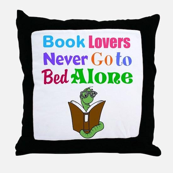 Bookworm Lovers Throw Pillow