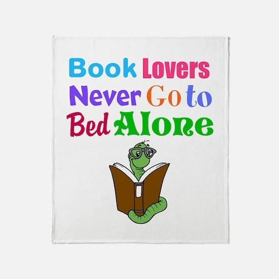 Bookworm Lovers Throw Blanket