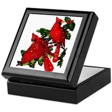 Snow Cardinals Keepsake Box