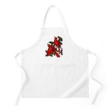 Snow Cardinals BBQ Apron
