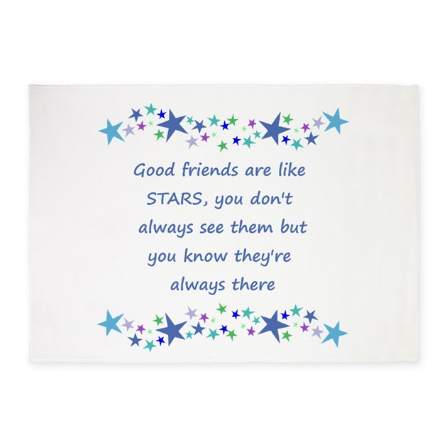 Good Friends are like Stars Inspirational Quote 5' by barkettc