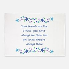 Good Friends are like Stars Inspirational Quote 5'