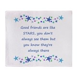 Good friends are like stars Fleece Blankets