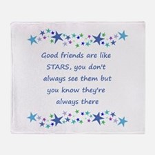 Good Friends are like Stars Inspirational Quote Th