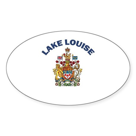 Lake Louise Oval Sticker