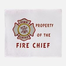 Fire Chief Property Throw Blanket