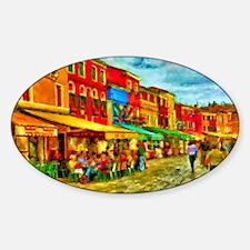 Italy Street Scene Sticker (Oval)