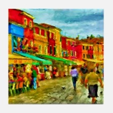 Italy Street Scene Tile Coaster