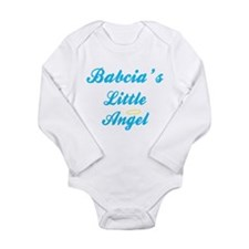 Cute Babcia Long Sleeve Infant Bodysuit