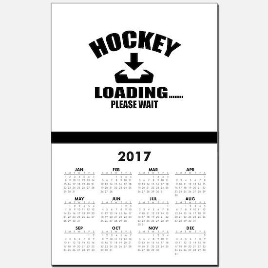 Hockey Loading Please Wait Calendar Print