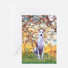 Spring / Whippet Greeting Card