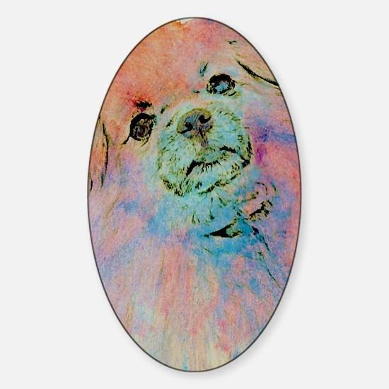 Watercolor Tibbie Sticker (Oval)