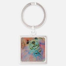 Watercolor Tibbie Square Keychain