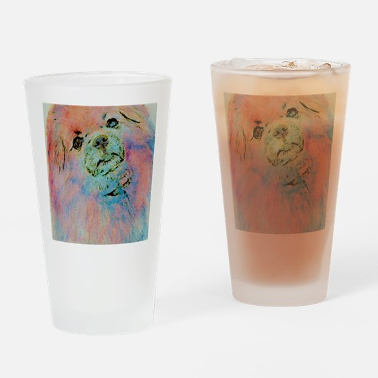Watercolor Tibbie Drinking Glass