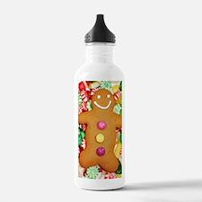Christmas gingerbread Water Bottle