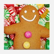 Christmas gingerbread man Tile Coaster