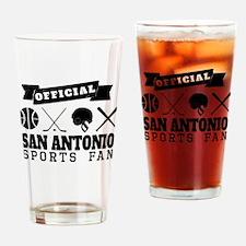 Official San Antonio Sports Fan Drinking Glass