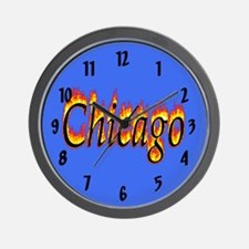 Chicago Flame Wall Clock