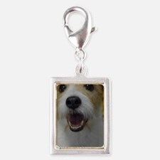 Busy Bouncing Silver Portrait Charm