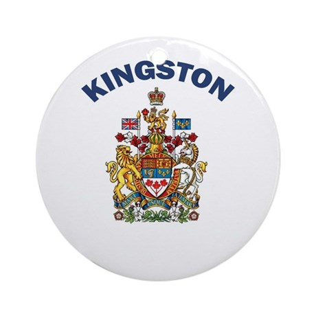 Kingston Coat of Arms Ornament (Round)