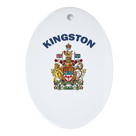Kingston Coat of Arms Oval Ornament