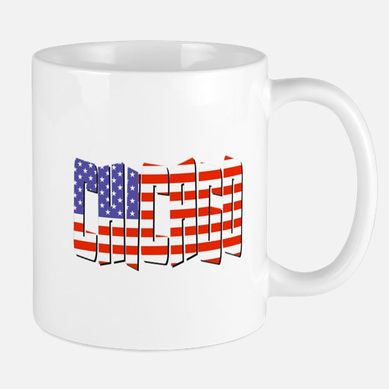 Patriotic Chicago Mugs