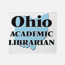 Ohio Academic Librarian Throw Blanket