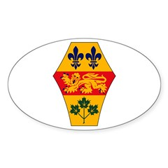 Quebec Coat of Arms Oval Decal