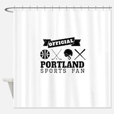 Official Portland Sports Fan Shower Curtain