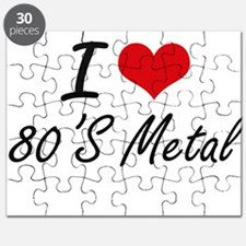 I Love 80'S METAL Puzzle