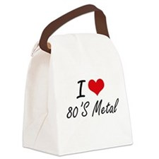 I Love 80'S METAL Canvas Lunch Bag