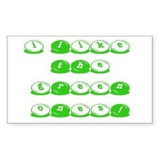 Green M&M's Rectangle Decal