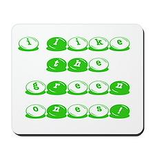 Green M&M's Mousepad