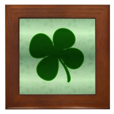 4 Leaf Clover Framed Tile