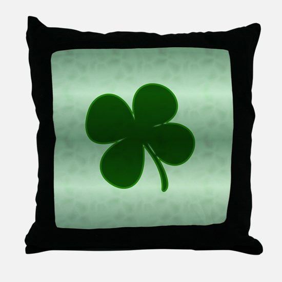 4 Leaf Clover Throw Pillow
