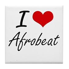 I Love AFROBEAT Tile Coaster