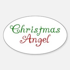 Christmas Angel Oval Decal