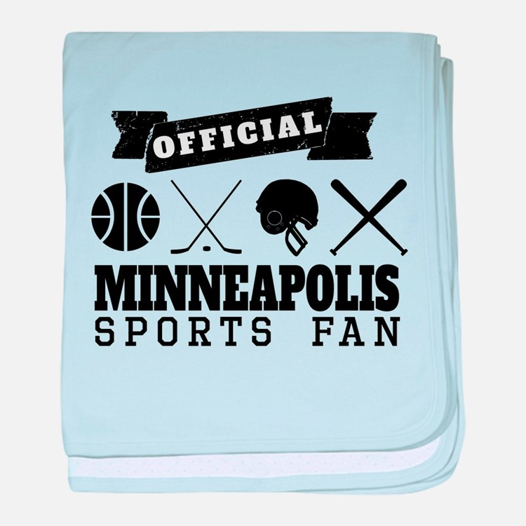 Official Minneapolis Sports Fan baby blanket
