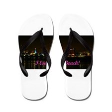 I Love Long Beach Skyline Night Flip Flops