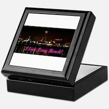 I Love Long Beach Skyline Night Keepsake Box